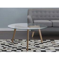 Stolik kawowy - szklany - ława - stół - minnesota marki Beliani