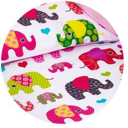pościel dwustronna 2-el słoniaki różowe / róż marki Mamo-tato