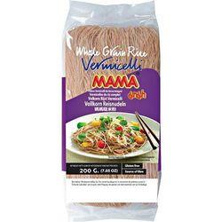 Mama Makaron z brązowego ryżu vermicelli, nitki 200g -