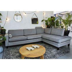 Sofa narożna rozkładana Focus - szara, kolor szary