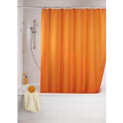 Zasłona prysznicowa, tekstylna, kolor pomarańczowy, 180x200 cm, WENKO, B008MVVZZS