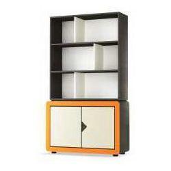 Kredens dwudrzwiowy frame grafitowo-pomarańczowy marki Timoore