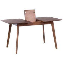 Stół brązowy - rozkładany - 120-150x75 cm - kuchenny - do jadalni - MADOX (7081451326768)