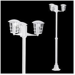 Zewnętrzna LAMPA stojąca ALORIA 93405 Eglo aluminiowa OPRAWA ogrodowa LATARNIA IP44 outdoor biały - sprawdź w wybranym sklepie