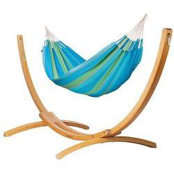 Hamak ze stojakiem drewnianym flora & elipso rodzinny marki Hamaki la siesta
