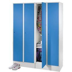 Szafa na garderobę, z przegrodą na buty i półką, jasnoszary / jasnoniebieski. sp marki Eugen wolf