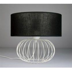 Lampka Nocna Small Ball White 2496 - Czarny transparentny/Biały
