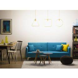 Sofa z funkcją spania morska - kanapa rozkładana - wersalka - LUCAN, kolor niebieski