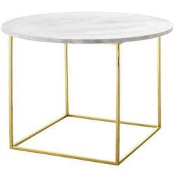 Eva stolik kawowy okrągły, marmur, złoto - Bloomingville (5711173174997)