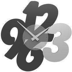 Zegar ścienny Transparencies CalleaDesign czarny, kolor czarny