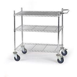 Wózek stołowy z kratą drucianą, z półkami, dł. x szer. x wys. 910x610x1025 mm, 3 marki Seco