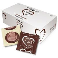 Czekoladowe prezerwatywy MoreAmore Condom Tasty Skin Chocolate 50 sztuk