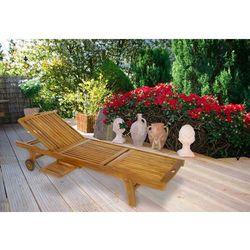 Leżak ogrodowy divero z drewna akacjowego