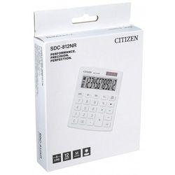 Kalkulator biurowy CITIZEN SDC-812NRWHE, 12-cyfrowy, 127x105mm, biały (4560196212619)