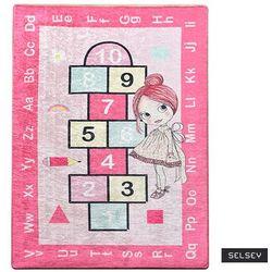 Selsey dywan do pokoju dziecięcego dinkley klasy różowy 100x160 cm