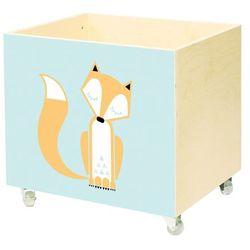 Nobobobo Drewniana skrzynia na zabawki śpiący lis -