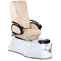 Fotel do pedicure z masażem MK3820D Kremowy z kategorii urządzenia i akcesoria kosmetyczne