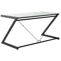 Biurko dd z-line main desk czarny stelaż/białe szkło marki Unique