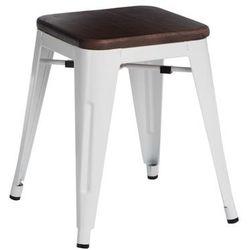 Stołek paris wood biały sosna orzech marki D2.design