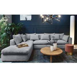 Sofa narożna lewostronna Nicea szara - Jasnoszary