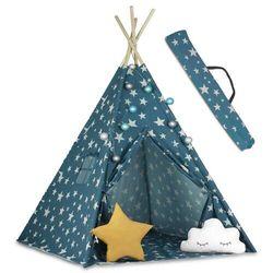 Ricokids Namiot tipi dla dzieci ze światełkami kolor niebieski