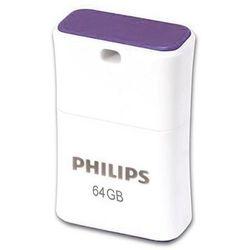 Philips Pendrive USB 2.0 64GB - Pico Edition (fioletowy) DARMOWA DOSTAWA - sprawdź w wybranym sklepie