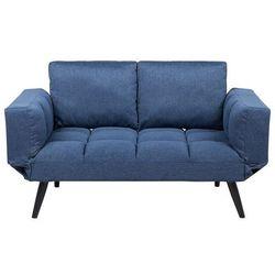 Beliani Sofa rozkładana tapicerowana ciemnoniebieska brekke (4251682207683)