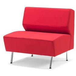 Moduł prosty sofy czerwony 1200mm, kolor czerwony