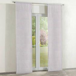 Dekoria zasłony panelowe 2 szt., przestrzenny wzór w różowo-szarej kolorystyce, 60 × 260 cm, rustica do -