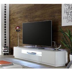 Szafka RTV MINT lakier biały mat oświetlenie 180/47/41 cm