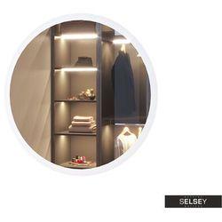 lustro ścienne okrągłe gerpian o średnicy 60 cm z oświetleniem led marki Selsey