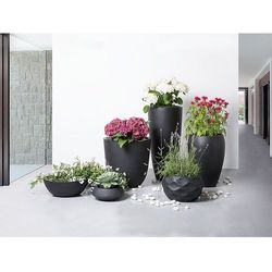 Doniczka czarna - donica na balkon - ogrodowa - 46x46x16 cm - muritz marki Beliani