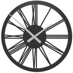 Zegar ścienny Tarquinio CalleaDesign czarny, kolor czarny