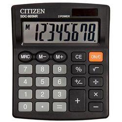 Citizen Kalkulator sdc-805nr 8-cyfrowy 120x105mm czarny (4562195139461)