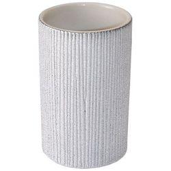 Kubek łazienkowy home stripes srebrny marki Yoka
