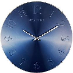 Zegar ścienny elegant dome niebieski by marki Nextime