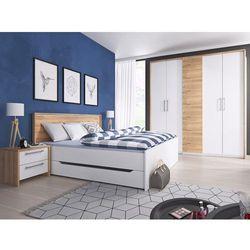 Form łóżko z szufladami180 biała / dąb Grandson