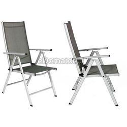Krzesło ogrodowe aluminiowe MODENA - Srebrne - produkt z kategorii- krzesła ogrodowe