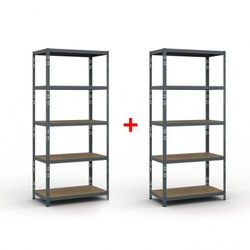 B2b partner Regał półkowy 2000 x 900 x 500 mm, nośność 175 kg 1+1 gratis