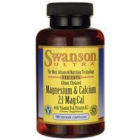 Swanson Albion Chelat Magnezu Wapnia z D3 i K2 90 kaps. (Witaminy i minerały)