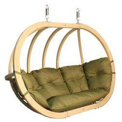 Fotel hamakowy drewniany, pistacjowy Swing Chair Double (2)