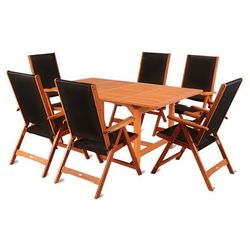 Home&garden Meble ogrodowe drewniane meranti black 180+50 cm (5902425323946)