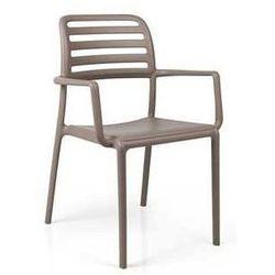 Włoskie krzesło ogrodowe na taras Nardi Costa kawowe