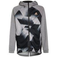 adidas Performance DISTRICT Kurtka sportowa medium grey heather/black/copper metallic