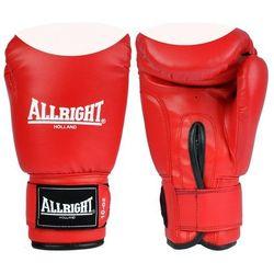 Rękawice bokserskie Allright PVC - czerwono-białe, towar z kategorii: Rękawice do walki