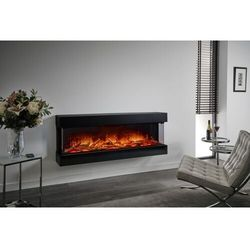 Kominek do montażu ściennego flamerite fires luca 1500. efekt płomienia nitra flame led - 20 kolorów ognia - 160 cm marki Flamerite fires - nowość 2021