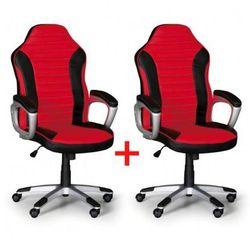Fotel biurowy sport 1+1 gratis, czarno-czerwony marki B2b partner