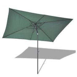 Parasol przeciwsłoneczny w prostokątnym kształcie (3x2 m), zielony (parasol ogrodowy)