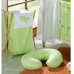 MAMO-TATO Kosz na bieliznę Serduszka w Zieleni - produkt z kategorii- Kosze na pranie