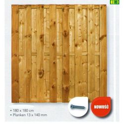"""płot deskowy 180x180 prosty """" Akite scherm recht"""" - D18 sprawdź szczegóły w ploty-pergole.pl"""